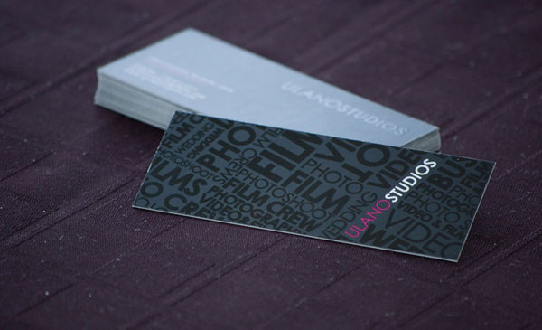 16pt Slim Cut Silk Business Card