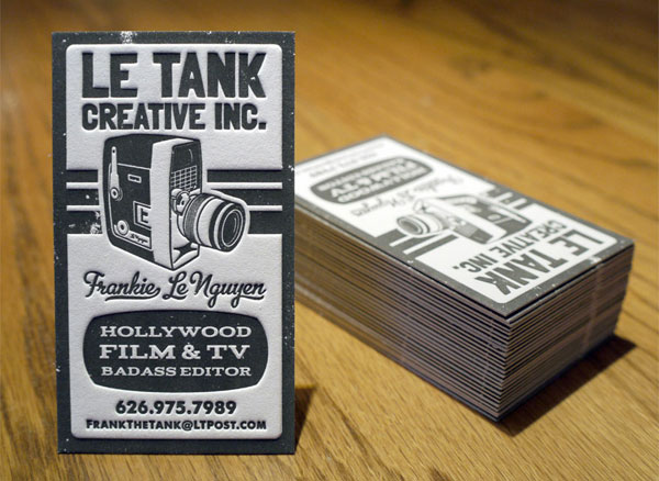 Le Tank Letterpress Business Cards