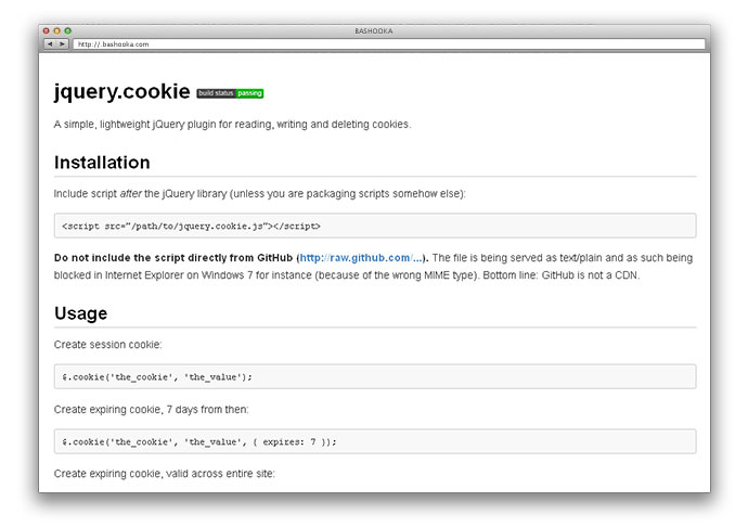 how to include jquery cookie plugin