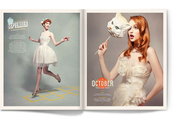 Editorial Calendar Design : Stunning pieces of editorial design web graphic