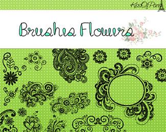 Brushes Florecitas