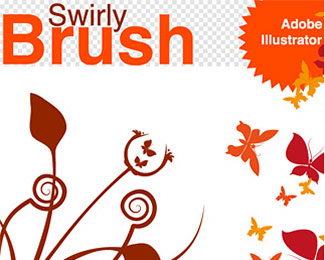 34 Swirly Vector Brush