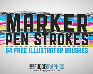 Marker Pen Strokes AI Brushes
