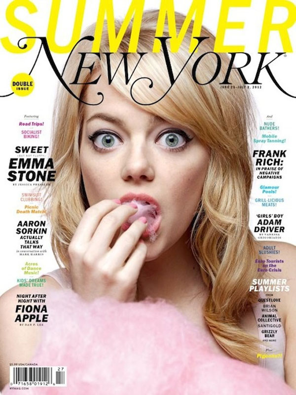 Emma Stone for New York Magazine. Such a fun cover!