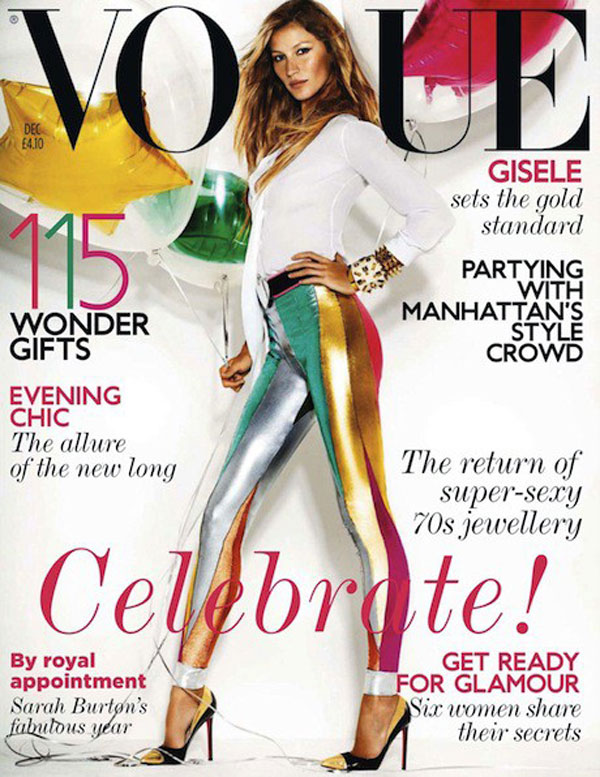 Giselle Bundchen, UK Vogue; December 2011
