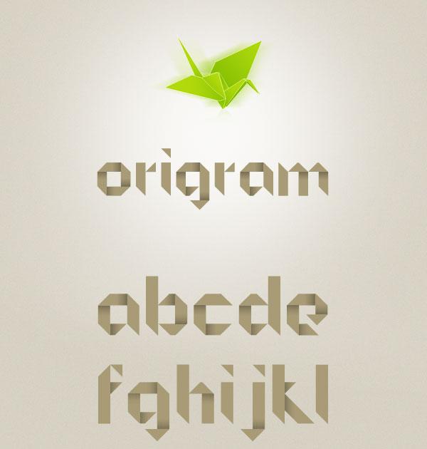 origrami_free_font