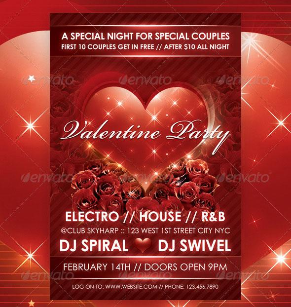 Love Sparks Valentine Flyer