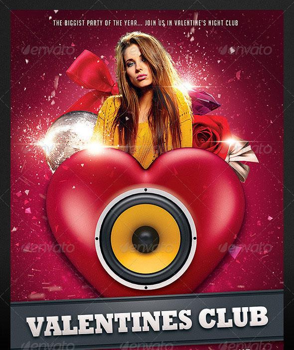 Valentine Club Flyer