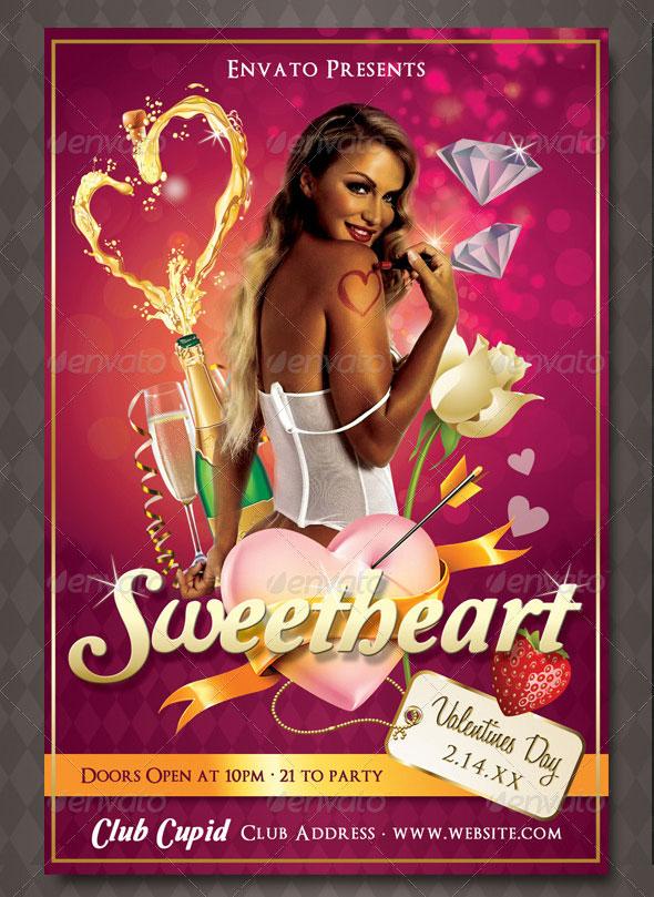 Mega Valentines Flyer Bundle Pack