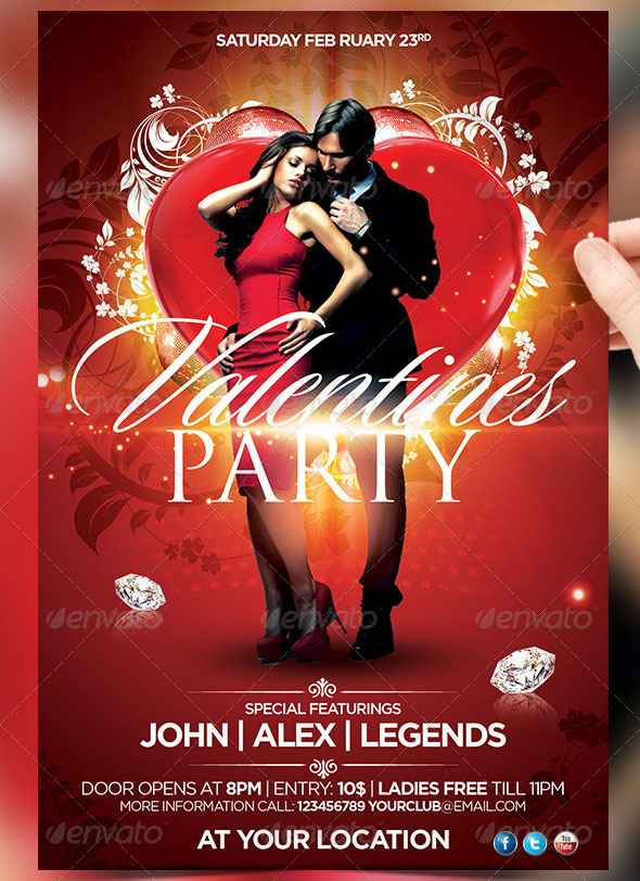 40 Sexy Valentines Flyer Templates Web Graphic Design Bashooka