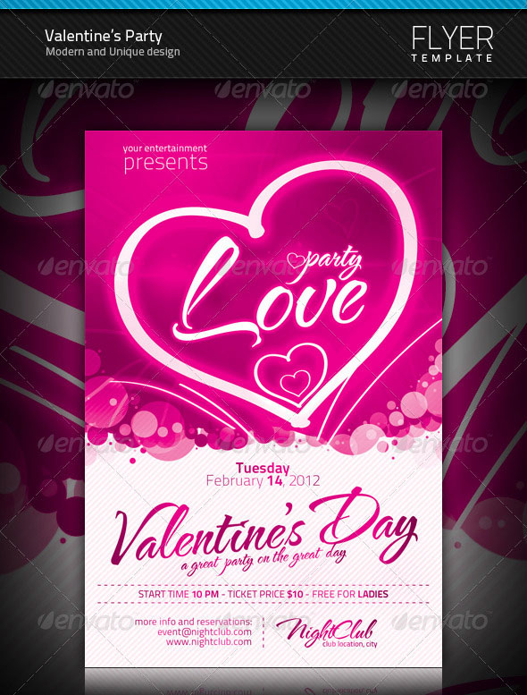 Valentines Flyer Design Dolapgnetband