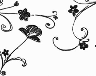 .15 drawn flower brushes