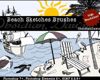 Beach Sketches Brushes