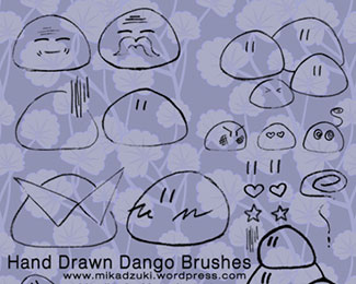 Hand Drawn Dango Brushes