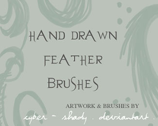 PS Brushes: Hand drawn feather