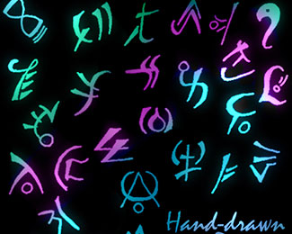 Hand-Drawn Runes Brush Pack