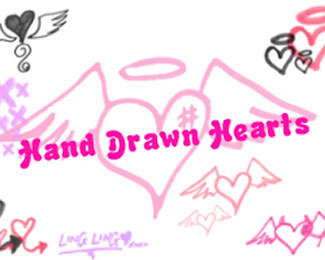 Hand Drawn Hearts s2