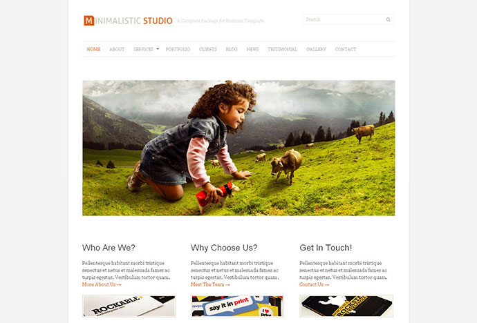 Minimalistic Studio - Premium WordPress Theme