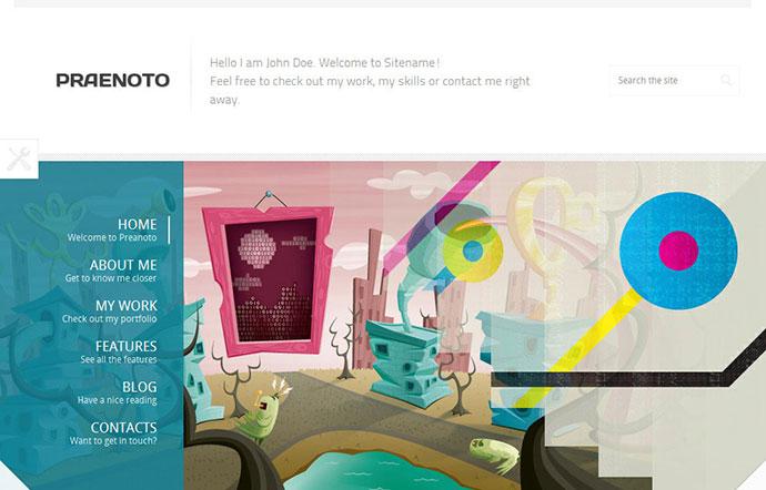 Praenoto - Clean & Minimalist WordPress Theme
