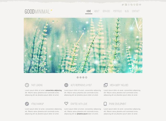 Good Minimal - A Responsive WordPress Theme