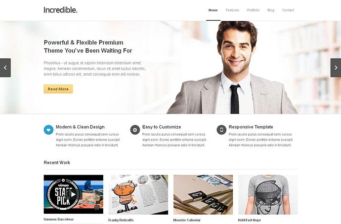 Incredible - Responsive WordPress Theme