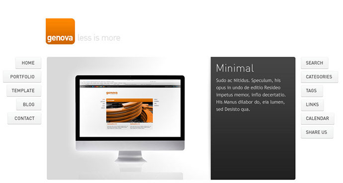 Genova - Minimalistic WordPress Template