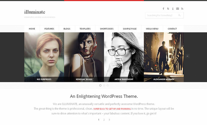 Illuminate - Minimalist & Creative WordPress Theme