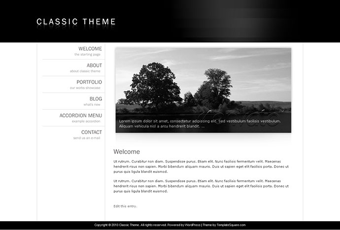 Classic Theme - Simple Clean Minimalist WordPress