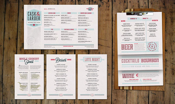 45 remarkable food drink menu designs web graphic design