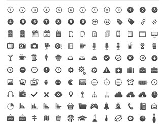 pixel perfect glyphs icons