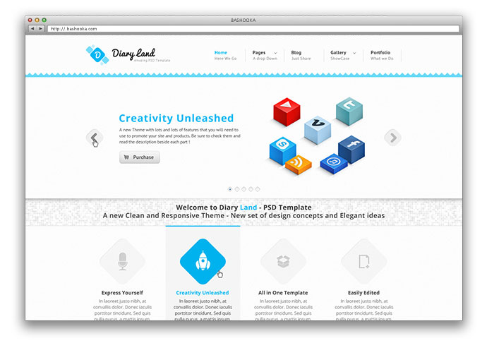 DiaryLand - Corporate WordPress Responsive Theme