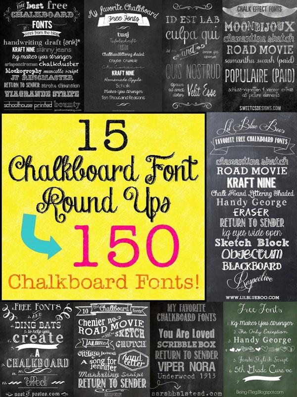 Mega Chalkboard Font Round Up!