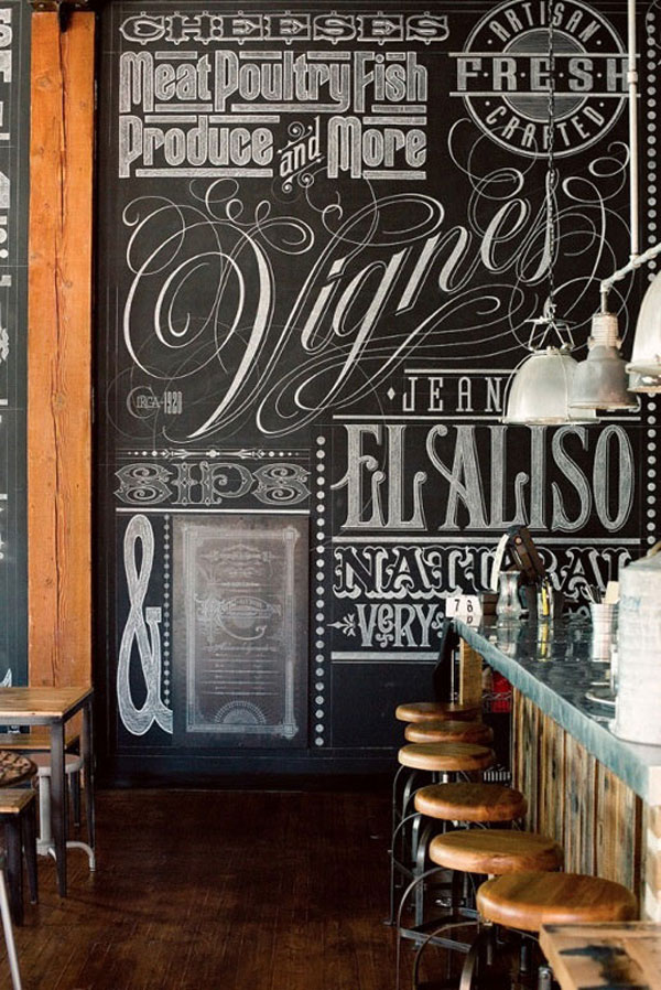 22 Awesome Chalkboard Typography Arts Bashooka