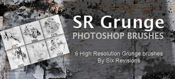SR Grunge: Free High Resolution Photoshop Grunge Brushes