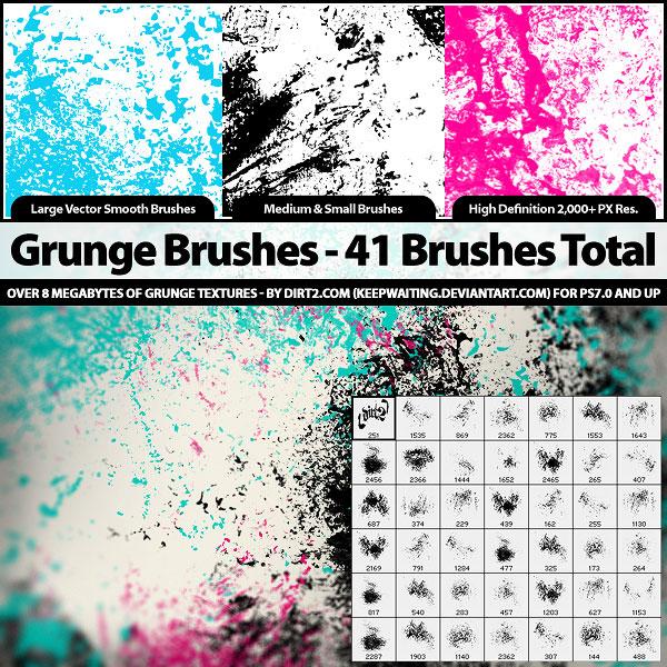 41 Grunge Brushes