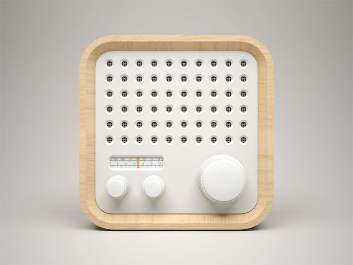 3D Radio Icon by Celegorm