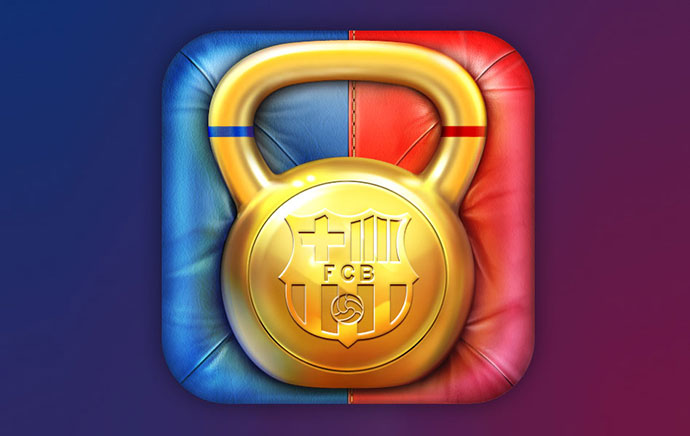 FCB Fitness iOS icon by Cuberto: