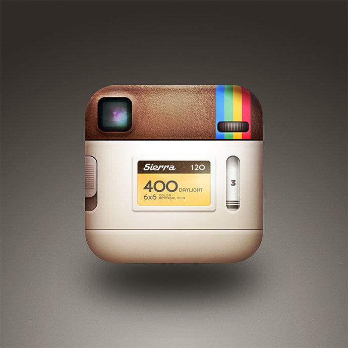 the back of the instagram icon. by Cole Rise