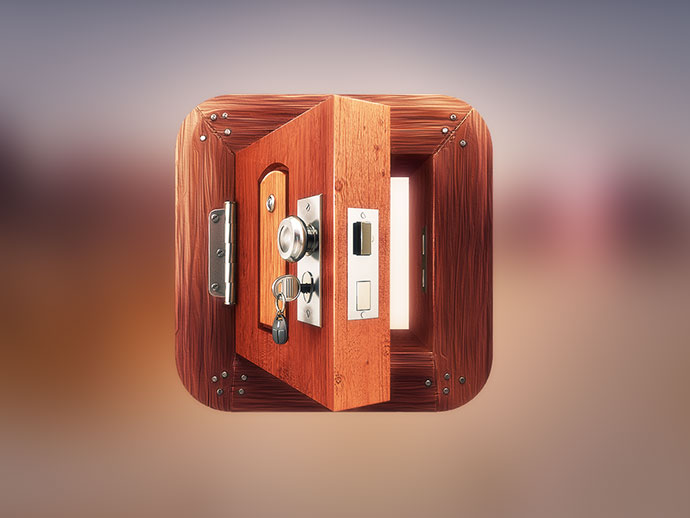 App Icon Design - Wooden Door by Dash