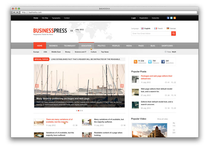 Business News - Responsive Magazine, News, Blog