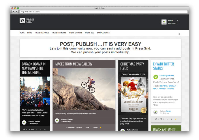 PressGrid - Frontend publishing & Multimedia Theme