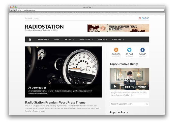 Radio Station – Premium WordPress Theme