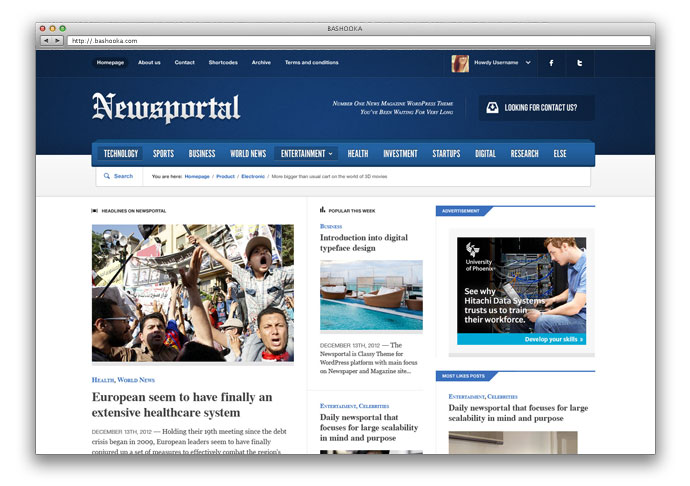 Newsportal - Responsive News and Magazine Theme