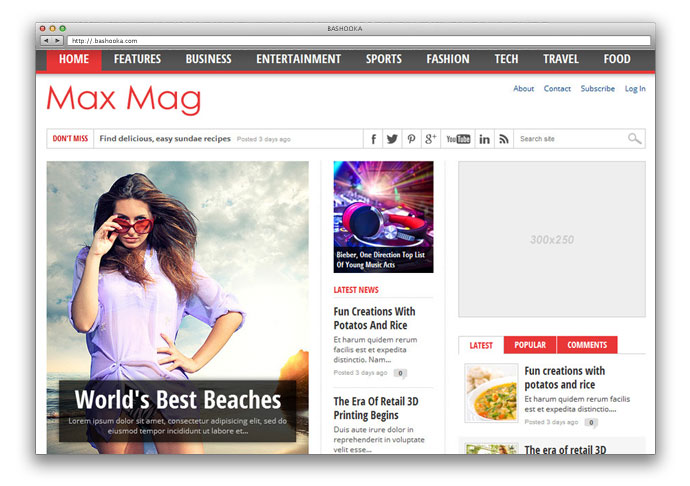 Max Mag - Responsive WordPress Magazine Theme