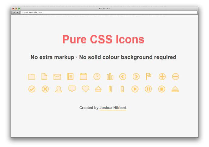 6 Pure CSS Icon Sets