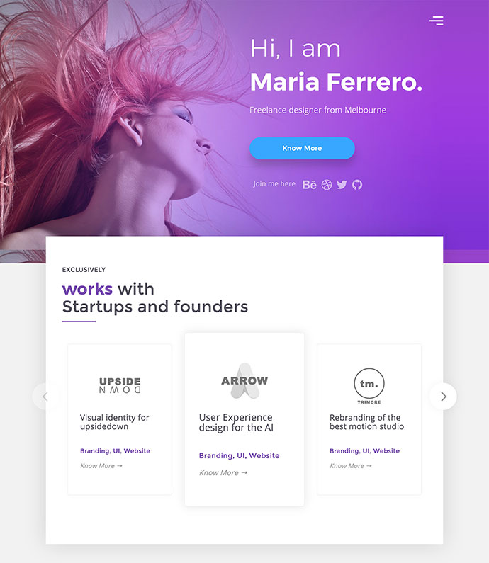 25 free html portfolio website templates web graphic design