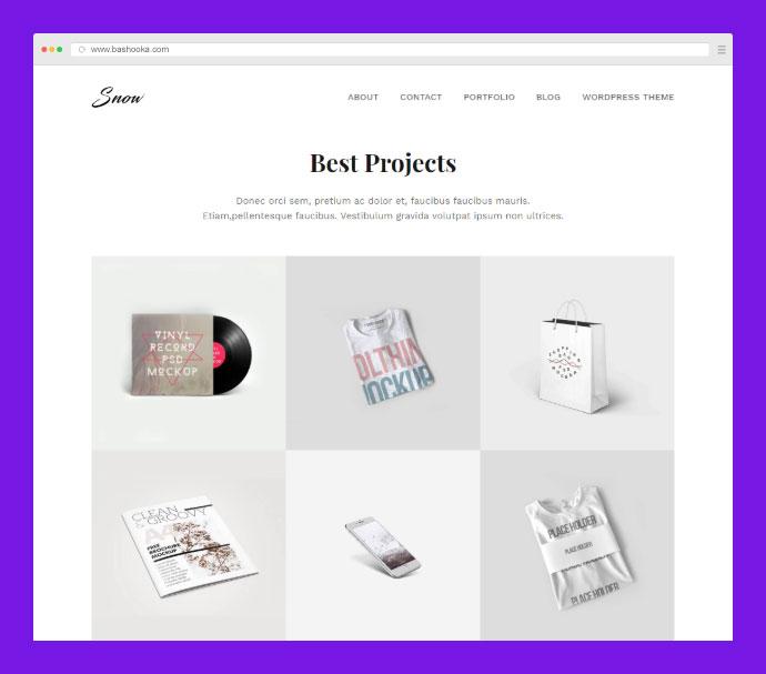 Free Minimal Portfolio HTML + PSD Template