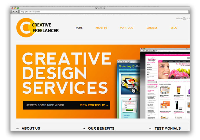 25 free html portfolio website templates web graphic for Free portfolio website templates