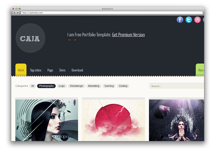 how to create a portfolio website in html