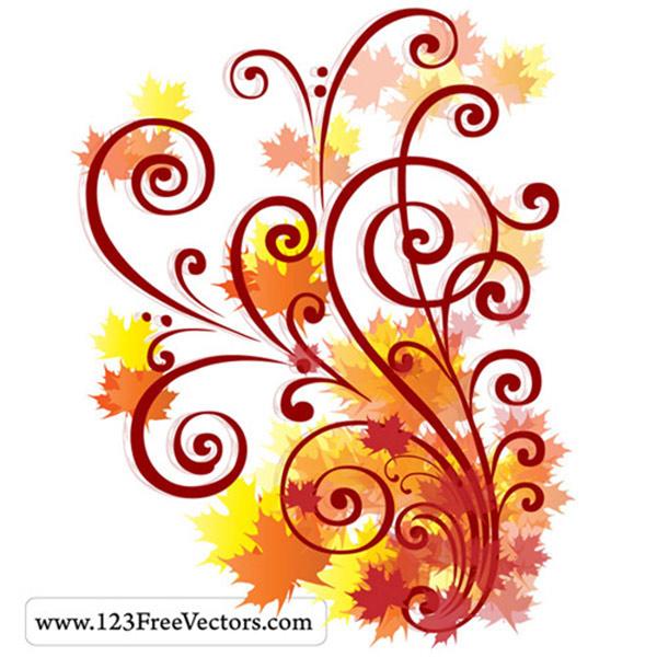Autumn Swirl Vector